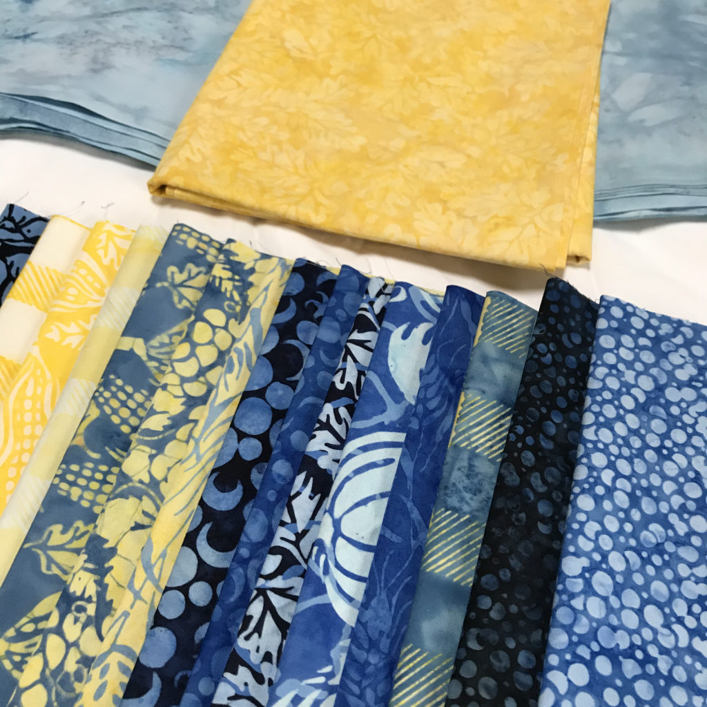 quilting with the accuquilt and Island Batik
