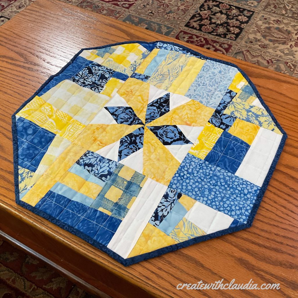 how to make an octagonal table topper