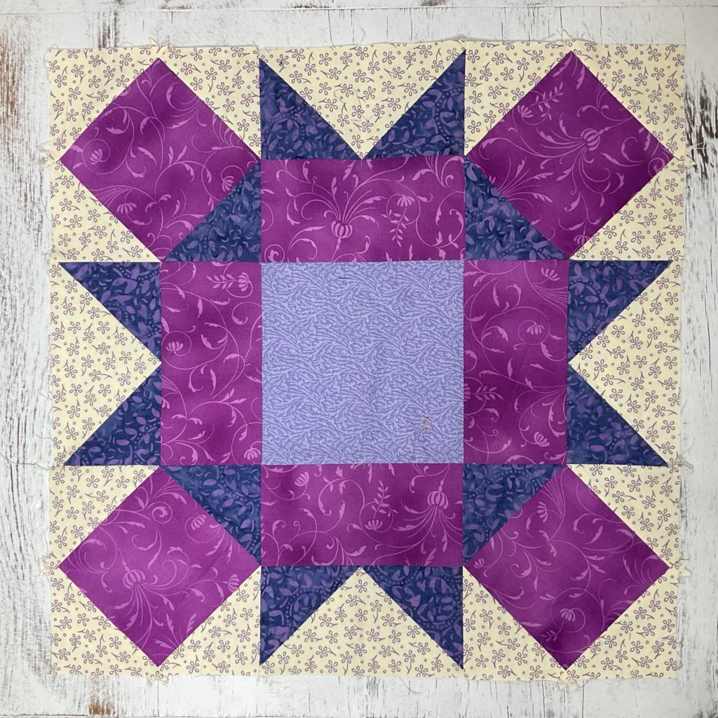 how to make a large rolling squares quilt block