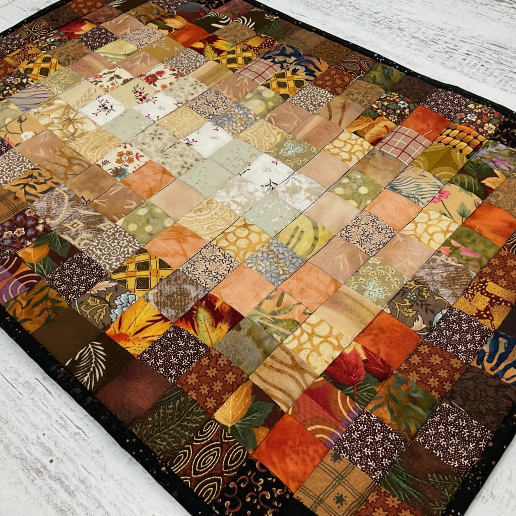 how to make an ombré postage stamp quilted